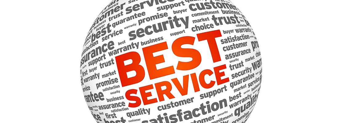 best service, customer service, quality service